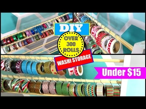 DIY:  WASHI TAPE STORAGE UNDER $15 (300 ROLLS)