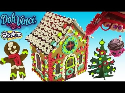 DohVinci Gingerbread House! DIY Gingerbread Man Cookies! Season 4 Shopkins Crate! FUN CRAFT!