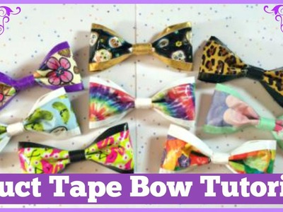 EASY + CUTE Duct Tape Bow Tutorial! | CraftieAngie