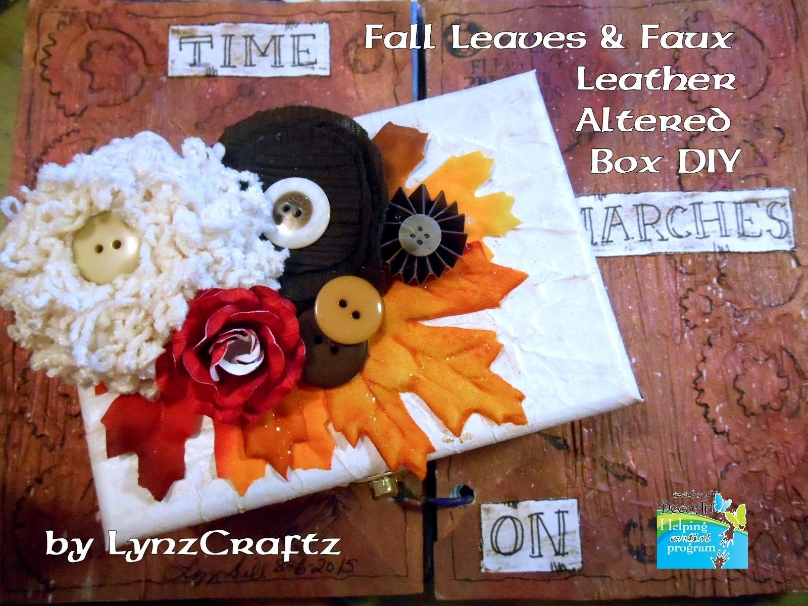 Fall Leaves & Faux Leather Altered Box Tutorial