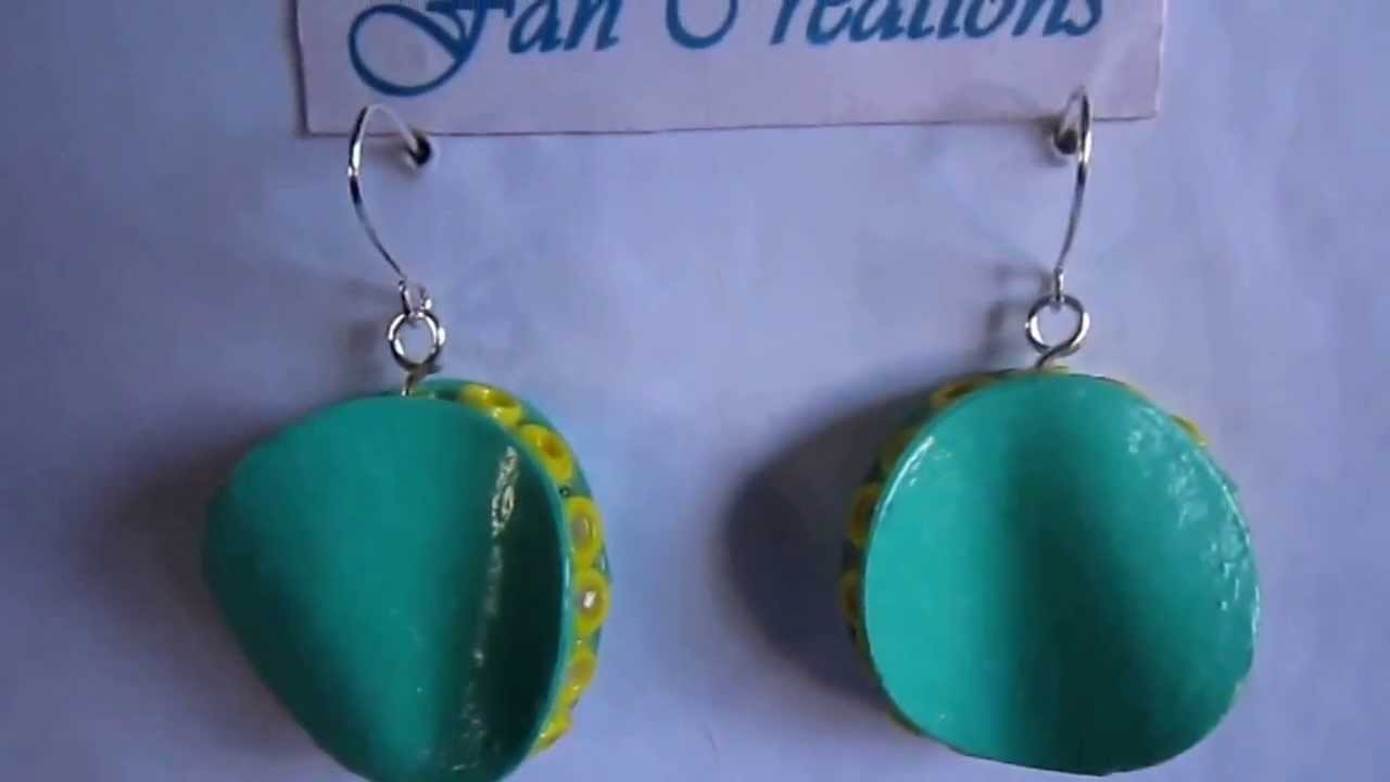 Free Form Quilling - Twisted Disk Quilling Earrings (Not Tutorial)