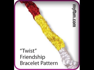 Friendship Bracelet Tutorial Twist Pattern