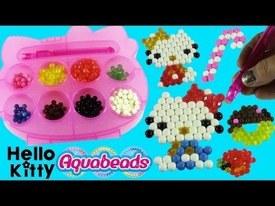 Hello Kitty Aquabeads Sparkle Case! DIY BEAD Designs with Water Magic! Num Noms Lip Gloss!