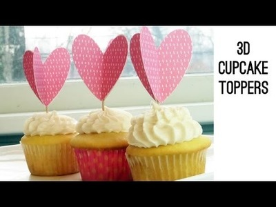 How to DIY 3D Cupcake Toppers