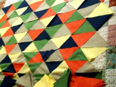 How to sew a triangle quilt - step #2