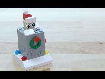 LEGO® Creator - How to Build a Popup Santa - DIY Holiday Building Tips