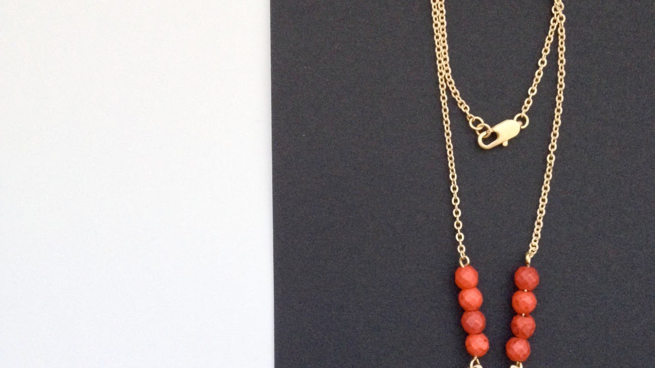 Make a Glam Red and Gold Necklace - DIY Style - Guidecentral