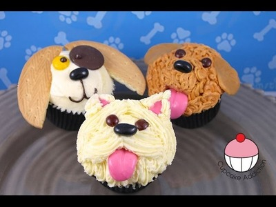 Make Puppy Dog Cupcakes! A Cupcake Addiction How To Tutorial!
