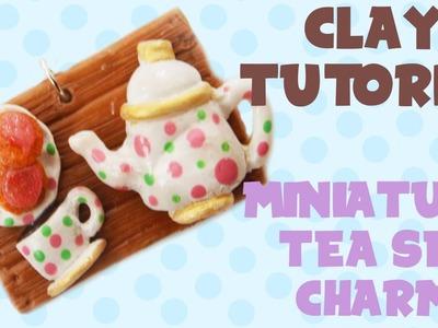 Miniature Tea Set Charm Clay Tutorial