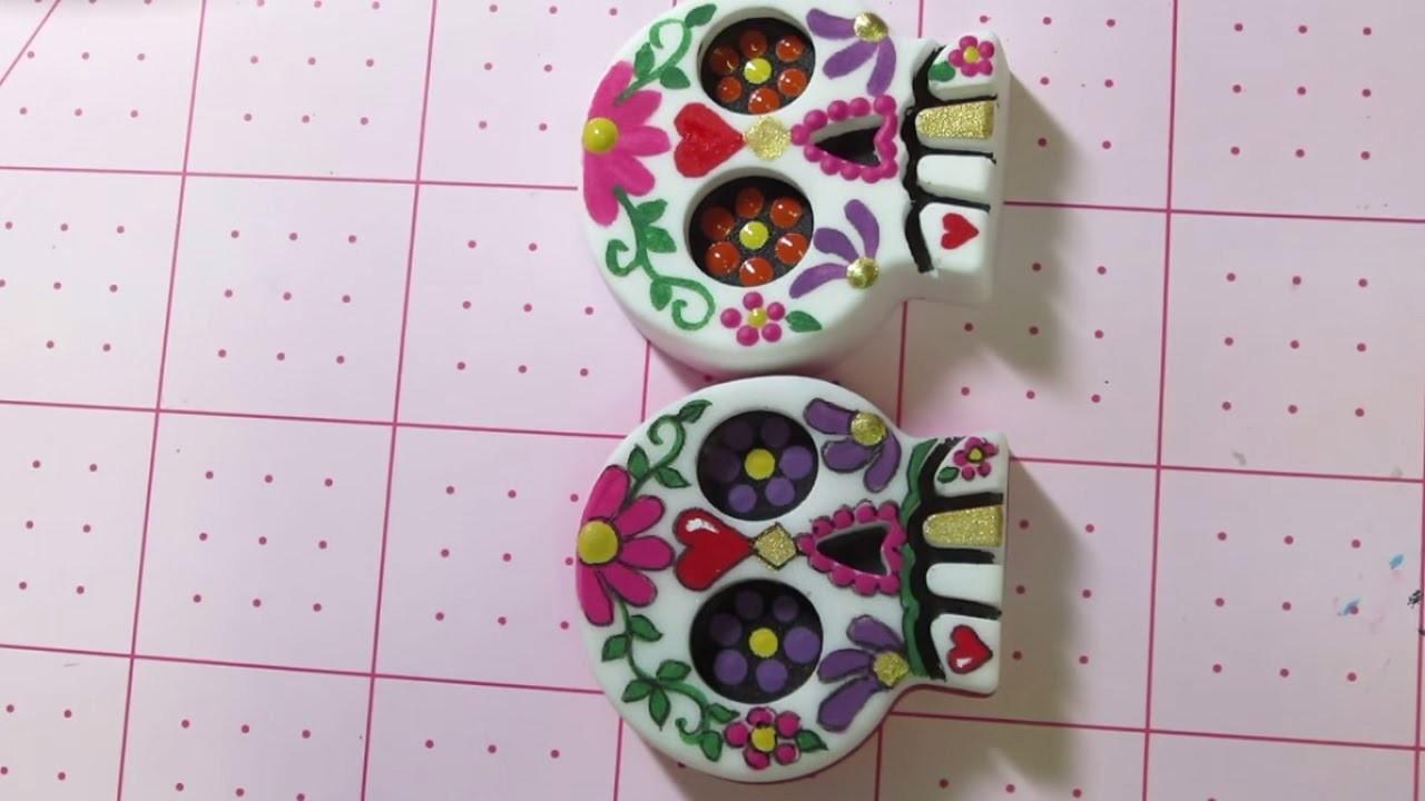 Painting Tutorial: Sugar Skull ☆ Handicraft Ideas