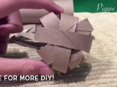 *Pinterest* DIY - How To Make a Cardboard Ball