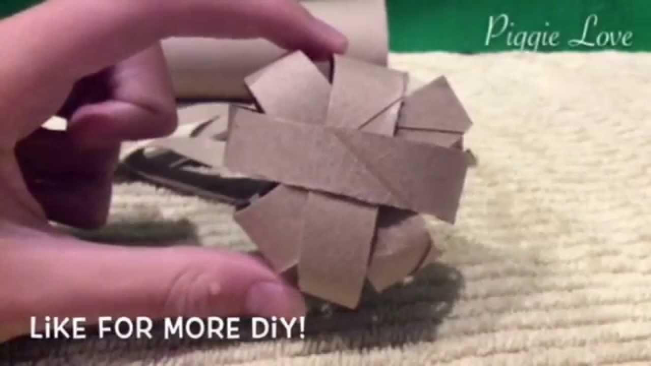 *Pinterest* DIY - How To Make a Cardboard Ball
