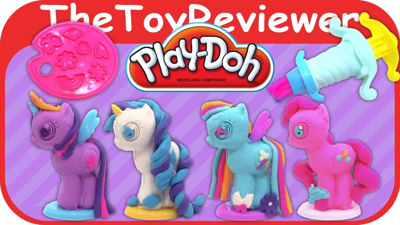 Play-Doh My Little Pony Make 'n Style Ponies Unboxing Tutorial by TheToyReviewer
