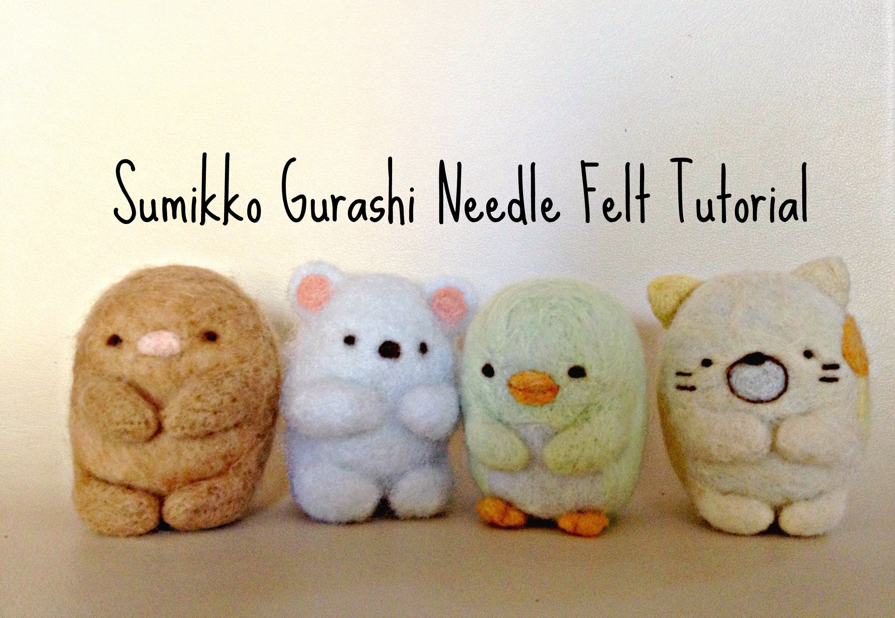 Sweetorials Audition: Needle Felt Sumikko Gurashi Tutorial