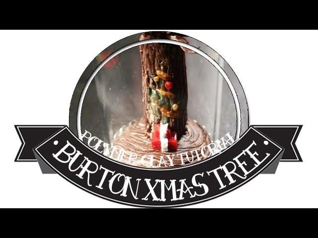 Tim Burton's xmas holiday door YWC #11 polymer clay tutorial The Nightmare Before Christmas