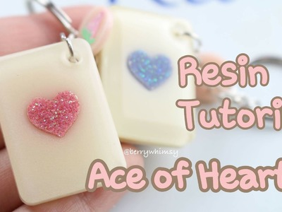 Ace of Hearts Friendship. Couple Keychain Charms | Full Resin Tutorial ♡ BerryWhimsy