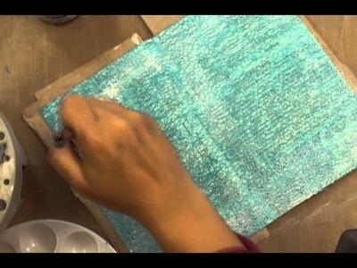 Art Journaling Video Tutorial: Soar Art Journal Page Part 1