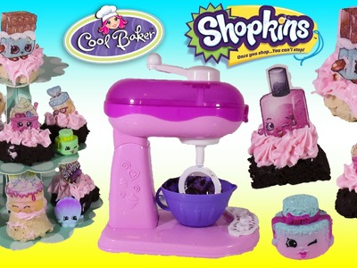 Cool Baker Magical Mixer! Make SPRINKLE Cupcakes & Brownies with EDIBLE SHOPKINS! SHOPKINS Season 5!