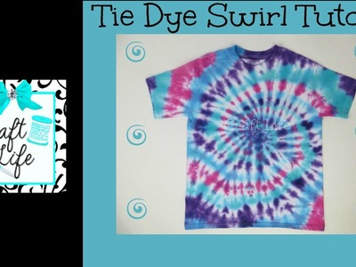 Craft Life ~ Jacy and Kacy DIY ~ Swirl Tie Dye Shirt & Pillowcase Tutorial