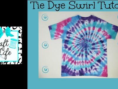 Craft Life ~ Jacy and Kacy DIY ~ Swirl Tie Dye Shirt & Pillowcase Tutorial