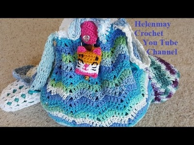 Crochet Easy Deluxe Beach Bag and Flip Flops Part 1 of 2 DIY Tutorial