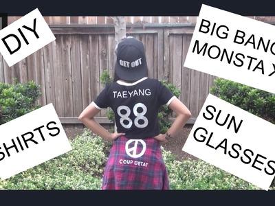 DIY Big Bang + Monsta X Shirts and Sunglasses | PrettyPrinceJin