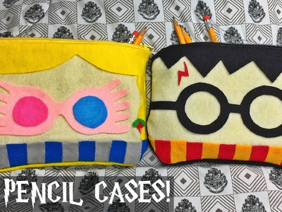 DIY Harry Potter and Luna Lovegood inspired pencil.multi-purpose cases.bags (FELT FABRIC.NO SEW!)