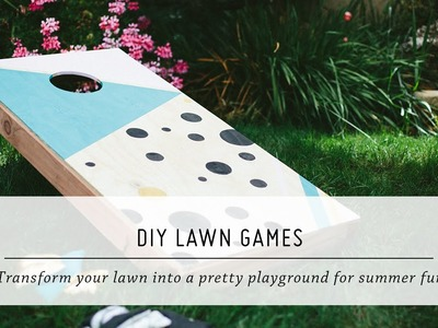 DIY Lawn Games | Summer Yard & Outdoor Decor Tutorial | Mr. Kate