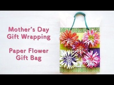 DIY Paper Flower Gift Bag for Mother's Day