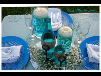 DIY: Quick Tip Something Blue Centerpiece for Under $20.00!