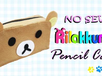 DIY Rilakkuma Pencil Case - How to make Rilakkuma Makeup Bag (NO SEW)
