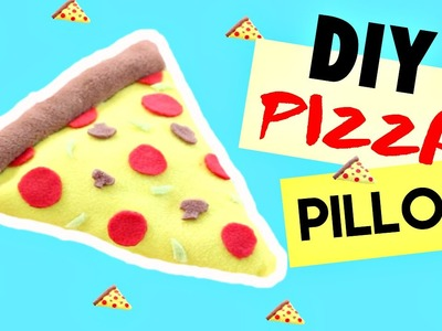 DIY Room Decor • Pizza Pillow (No Sew) • heartcindy