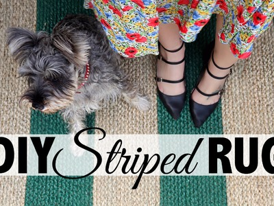 DIY Striped Rug  |  Home Decor: Ikea Hack