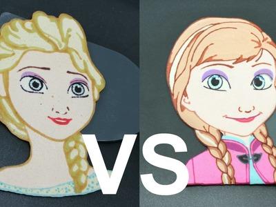 Elsa vs Anna Pancake Battle - Epic Princess Food Fight