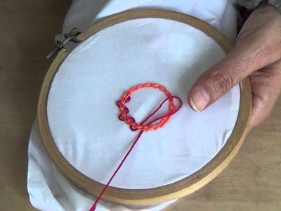 Hand Embroidery: Threaded Chain Stitch