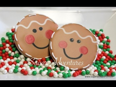 How to decorate a gingerbread man cookie