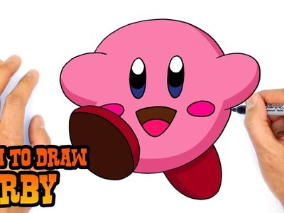 How to Draw Kirby- Easy Kids Art Lesson