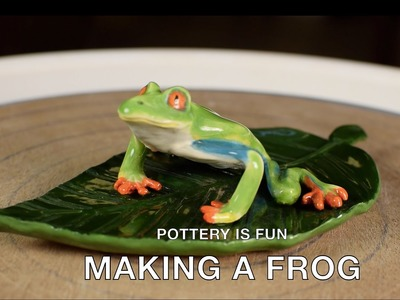 How to Make A Tree Frog - Making Animals Out of Clay - Pottery is fun