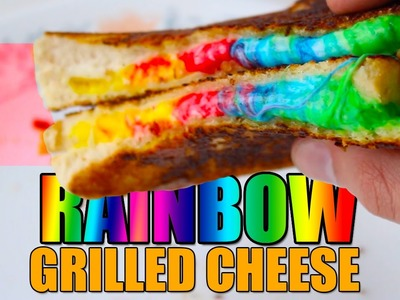 How To Make RAINBOW & GALAXY Grilled Cheese