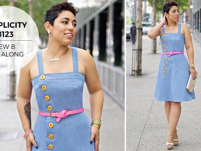 How to Sew a Dress with Mimi G Simplicity Pattern 8123