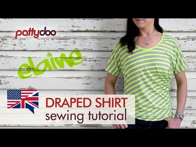 How to Sew a T-Shirt with Striped Fabric and Draping - A Beginners' Sewing Tutorial