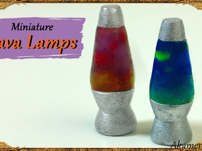 Miniature Lava Lamps - Polymer Clay Tutorial
