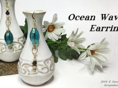 Ocean Waves Asymmetrical Earrings Tutorial