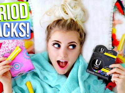 Period LIFE HACKS! Make Your Period EASIER!    Aspyn Ovard