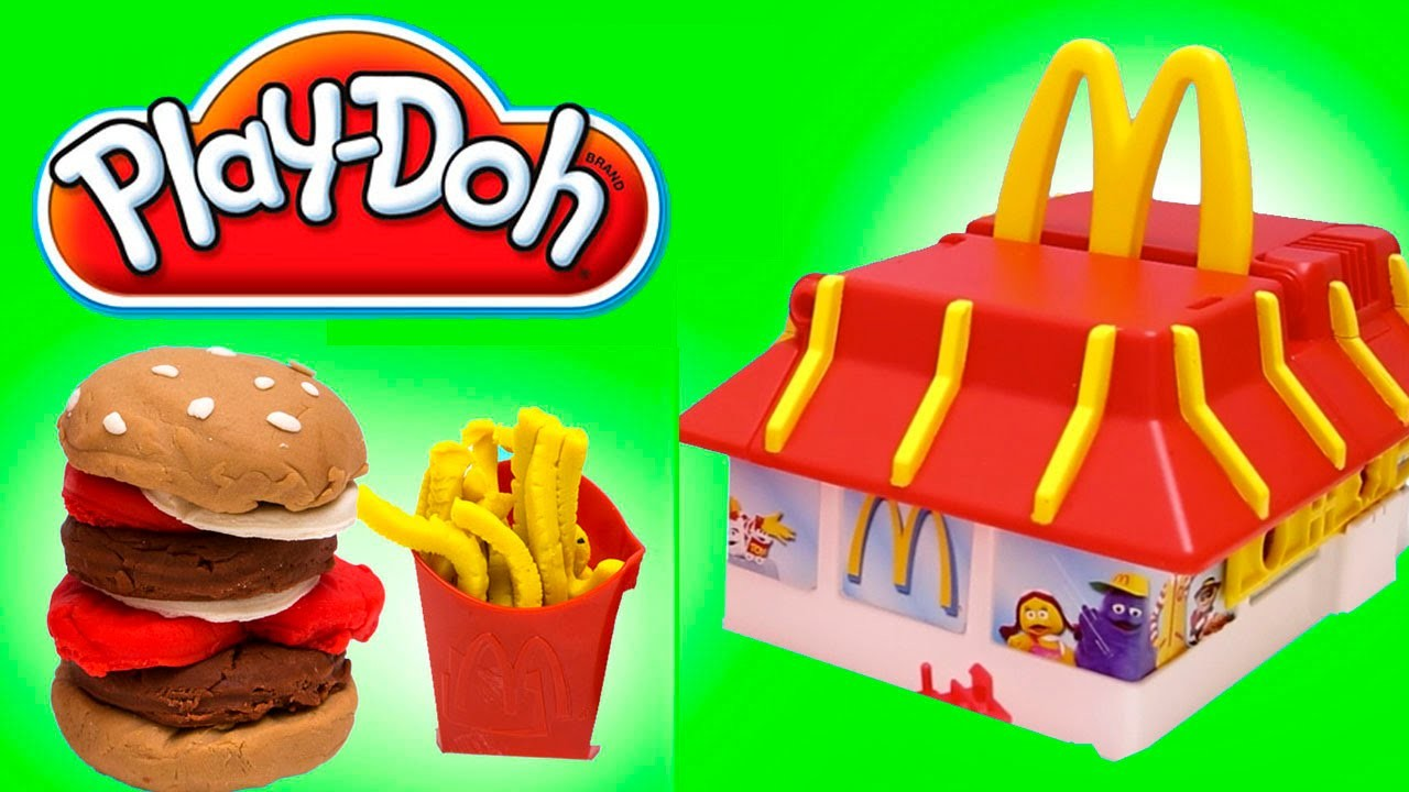Play Doh McDonald's Restaurant Playset Mold Burgers Fries McNuggets
