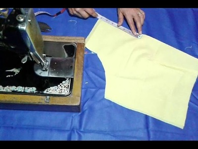 Simple blouse cutting and stitching in hindi