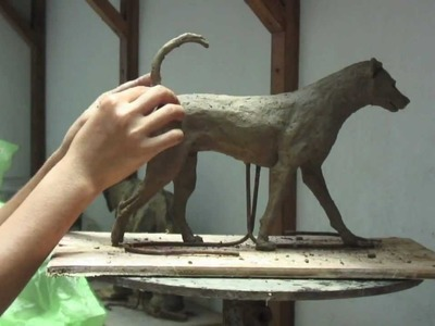 'Soda the Dog' - Clay Sculpture Step by Step - K. Barton, artist