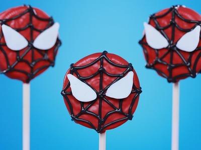 SPIDER MAN COOKIE POPS - NERDY NUMMIES