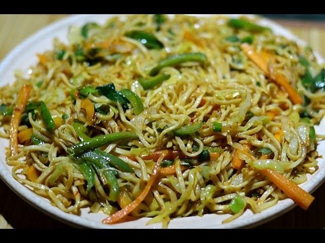 Veg Noodles Recipe   Veg Chow Mein   Vegetable Noodles