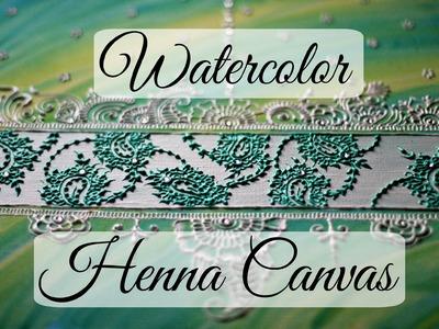 Watercolor Henna Canvas Tutorial {Khaleeji and Arabic Inspired} | Hennafly